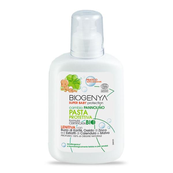 Biogenya - Pasta Protettiva Baby BIO. Crema Lenitiva per cambio Pannolino. Formula BIO Ipoallergenica e Dermatologicamente Testata su pelli sensibili.
