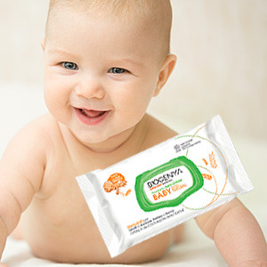 Biogenya - Salviette detergenti per Neonati e Bambini. Adatte per l'uso in casa e fuori casa. Formulazioni dermatologicamente testate, efficaci e certificate.