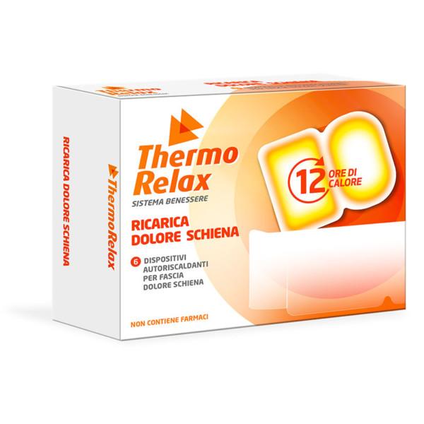 ThermoRelax - Ricariche Autoriscaldanti per Fascia Lombare. 6 dispositivi da inserire nell'apposita fascia. Mantiene il calore fino a 12 ore.