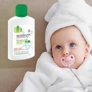 Biogenya - Prodotti idratanti e detergenti per Neonati e Bambini. Formulazioni studiate per pulire e idratare la pelle, dermatologicamente testate su pelli sensibili.
