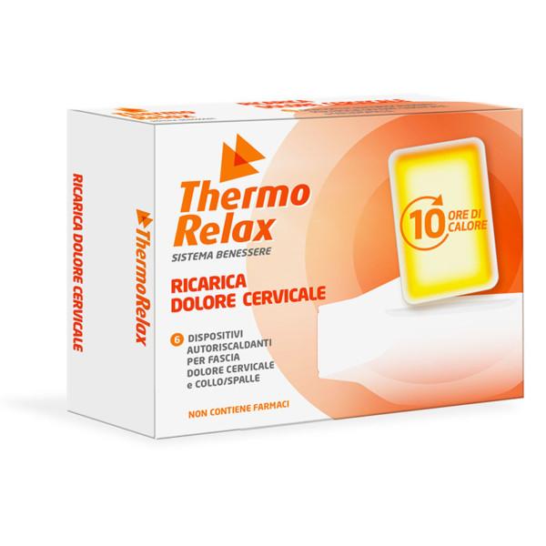 ThermoRelax - Ricariche Autoriscaldanti per Fascia Cervicale e Collo/Spalle. 6 dispositivi da inserire nella fascia. Mantiene il calore fino a 10 ore.